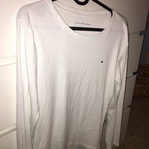Plain white womens tommy shirt size medium